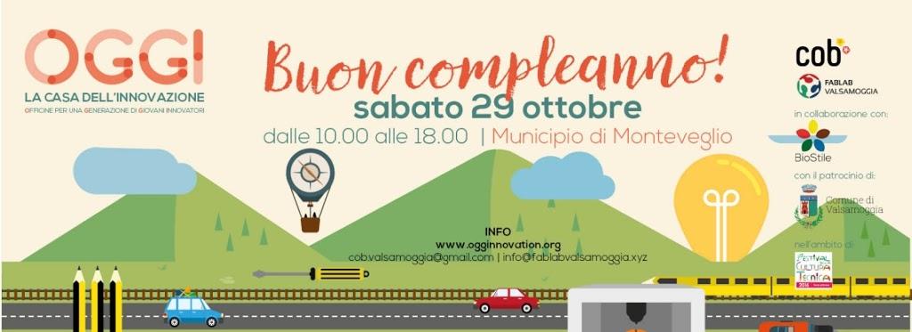 Buon Compleanno a OGGI, la casa dell'innovazione di Valsamoggia!
